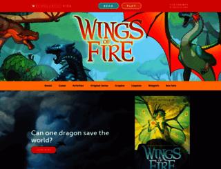 wingsoffire.scholastic.com screenshot