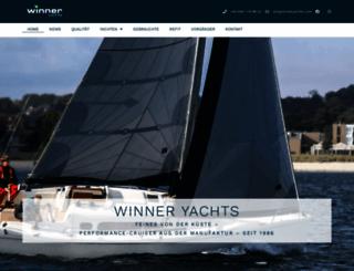 winneryachts.com screenshot