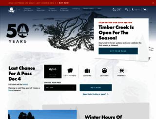 winter.kirkwood.com screenshot