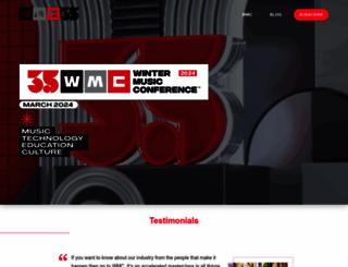 wintermusicconference.com screenshot