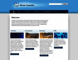 wiredchemist.com screenshot