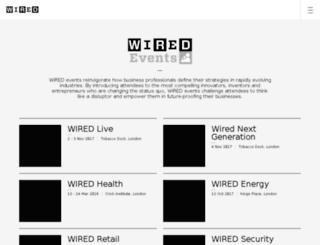 wiredevent.co.uk screenshot