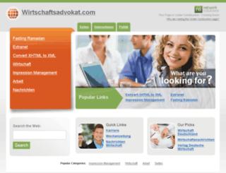 wirtschaftsadvokat.com screenshot