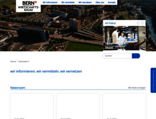 wirtschaftsraum.bern.ch screenshot