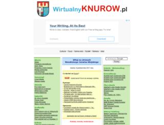 wirtualnyknurow.pl screenshot