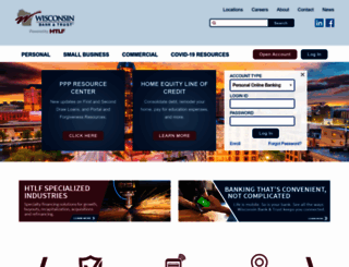 wisconsinbankandtrust.com screenshot