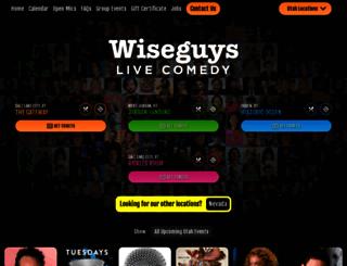 wiseguyscomedy.com screenshot