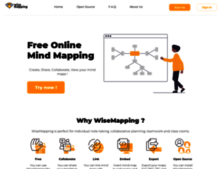 wisemapping.com screenshot
