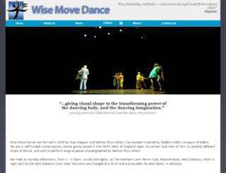 wisemovedance.co.uk screenshot