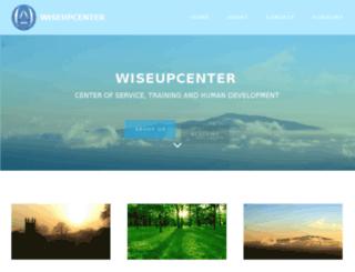 wiseupcenter.com screenshot