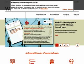 wissenschaftsrat.de screenshot