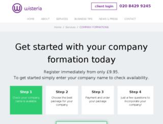wisteriaformations.co.uk screenshot