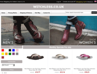 witchless.co.uk screenshot