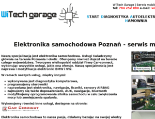 witech-garage.pl screenshot