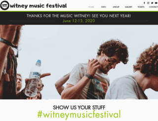witneymusicfestival.com screenshot
