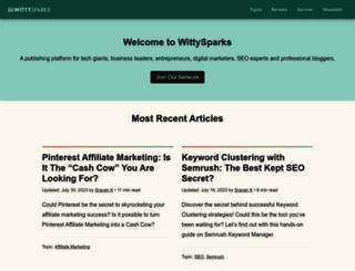 wittysparks.com screenshot