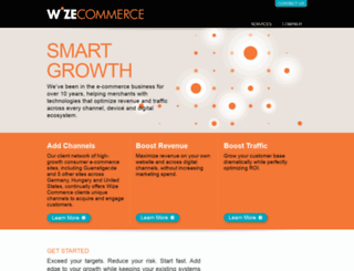 wizecommerce.com screenshot