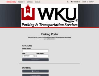 wkuparking.t2hosted.com screenshot