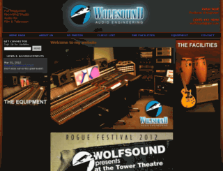wolfsoundaudio.com screenshot