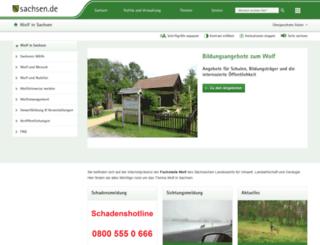 wolfsregion-lausitz.de screenshot