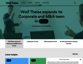 wolftheiss.com screenshot