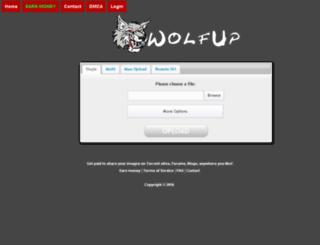 wolfup.net screenshot