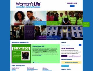 womanslife.org screenshot