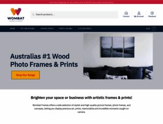 wombatframes.com.au screenshot