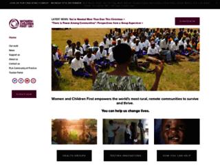 womenandchildrenfirst.org.uk screenshot