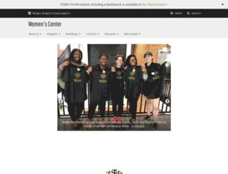 womenscenter.wfu.edu screenshot
