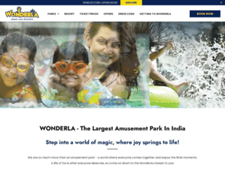 wonderla.com screenshot