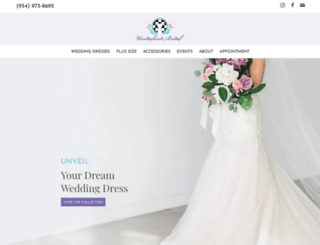 wonderlandbridal.com screenshot