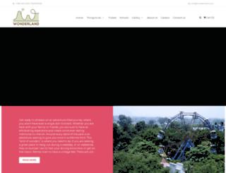 wonderlandthemepark.com screenshot