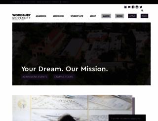 woodbury.edu screenshot