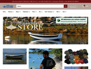 woodenboatstore.com screenshot