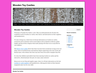 woodentoycastles.co.uk screenshot