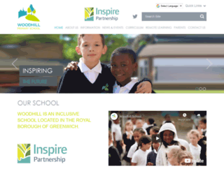 woodhillschool.co.uk screenshot