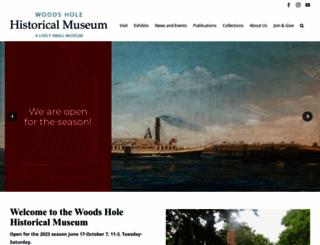 woodsholemuseum.org screenshot