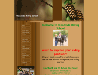 woodsidestables.net screenshot