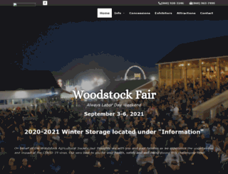 woodstockfair.com screenshot