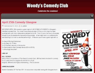 woodyscomedyclub.com screenshot