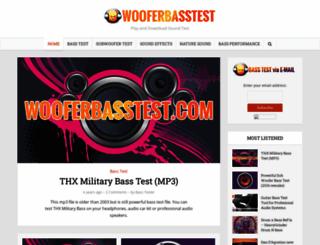 wooferbasstest.com screenshot