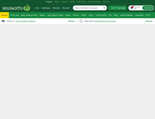 woolworths.com.au screenshot