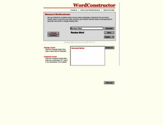wordconstructor.com screenshot