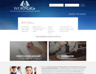wordgigs.com screenshot