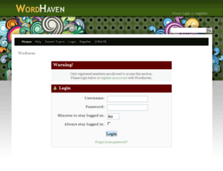 wordhaven.net screenshot