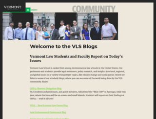 wordpress.vermontlaw.edu screenshot