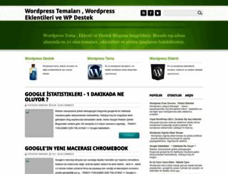 wordpressdestekwp.blogspot.com screenshot