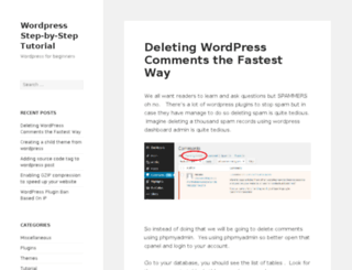 wordpressinaction.com screenshot