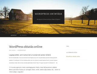 wordpressoktatasa.wordpress.com screenshot